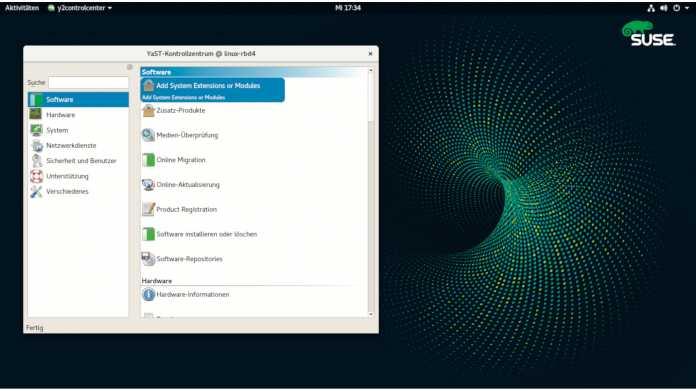SUSE Linux Enterprise 15 mit Modulen anpassen