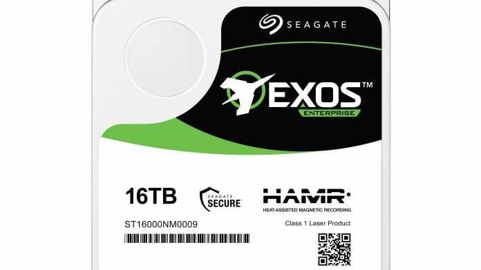 Seagate bringt 16-TByte-HAMR-Festplatte