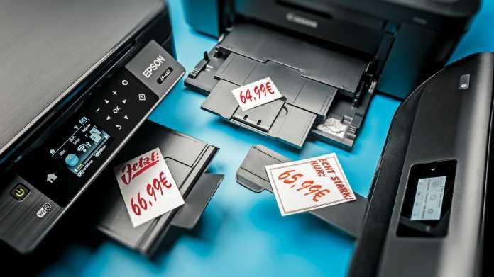 Lohnt der Schnäppchenkauf bei Tinten-Multifunktionsgeräten?