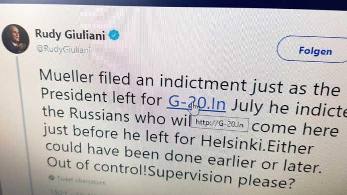 Trumps Cybersecurity-Berater versteht Twitter nicht: Posse um Rudy Giuliani