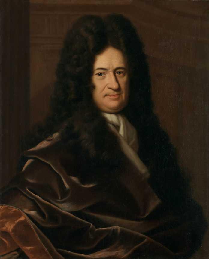 Gottfried Wilhelm Leibniz um 1695, ein Porträt von Christoph Bernhard Francke