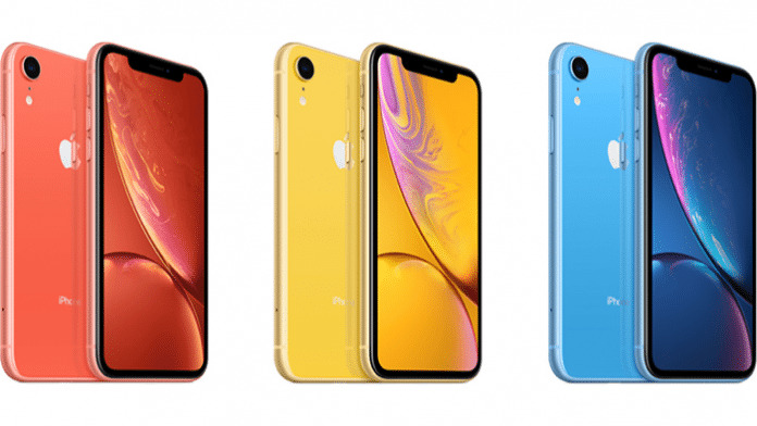 iPhone XR in drei Farben