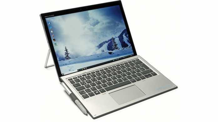 HPs Windows-Tablet Elite x2 1013 G3 mit LTE und Standfuß