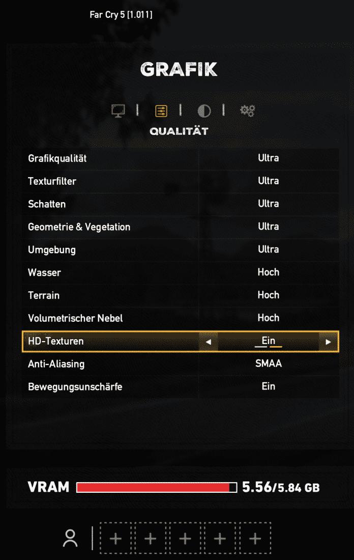 Die 6 GByte Speicher der RTX 2060 reichen selbst bei höchster Detail- und Texturstufe noch aus — in 4K, das die Karte dann nicht mehr flüssig darstellt.