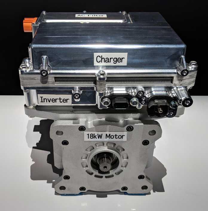 Der kompakte 48-Volt-Motor von Panasonic erreicht eine Leistung von 18 kW.