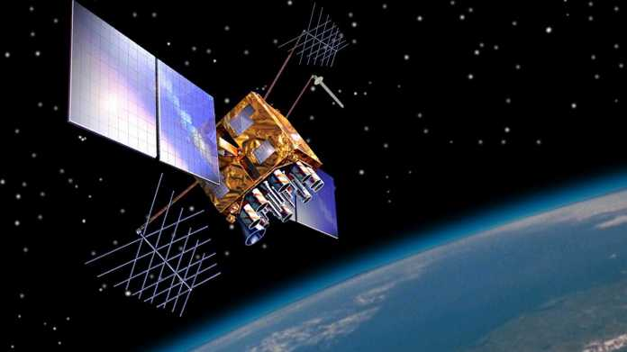 Darstellung eines Satelliten im Orbit