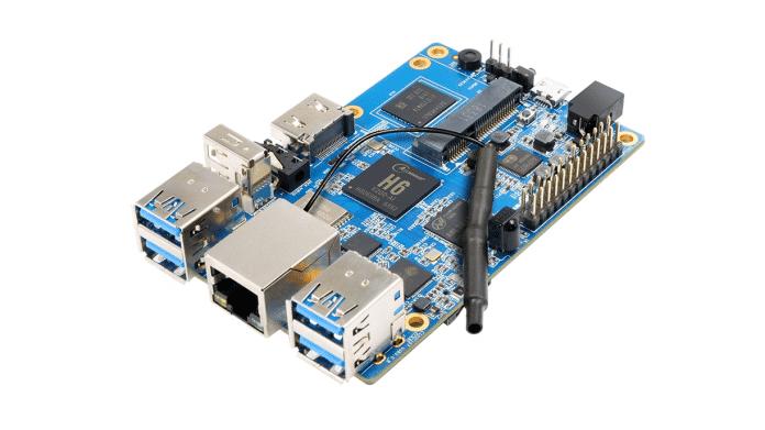 Orange Pi 3: Ein blaues Board in Raspberry-Pi-Formfaktor.