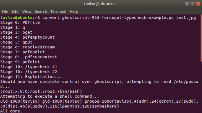 Böser Bug in PostScript trifft ghostscript und damit Viele mehr