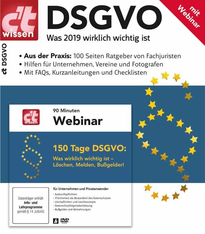 Sonderheft c't wissen DSGVO jetzt vorbestellbar