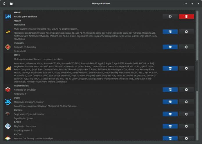 Lutris 0.5: Emulatoren