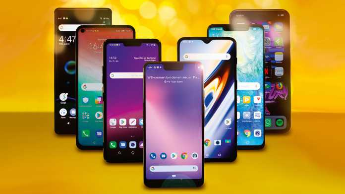 7 Top-Android-Smartphones und das iPhone Xs