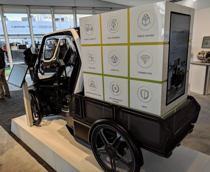 Sieht aus wie ein Kleinst-LKW, ist aber rechtlich gesehen ein Fahrrad: Das Schaeffler Bio-Hybrid.