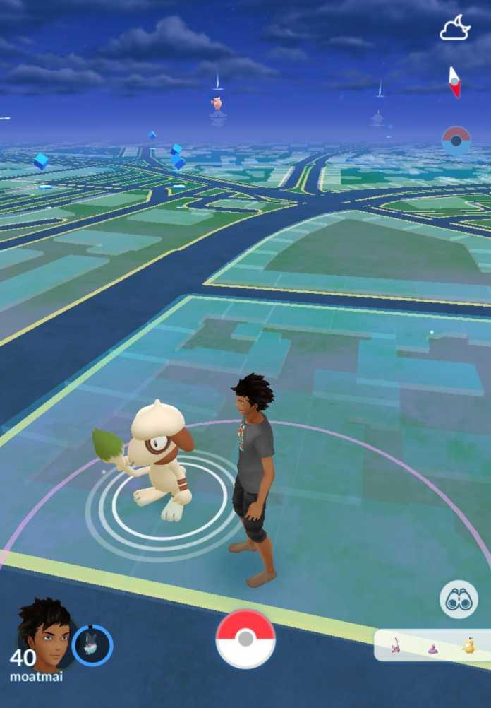 Danach erscheint Farbeagle auf der Spiel-Landkarte und kann gefangen werden.