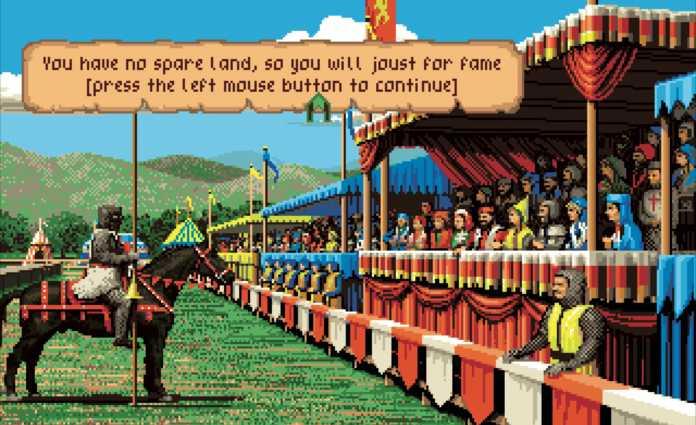 Die grafische Präsentation von Defender of the Crown brachte zum ersten Mal Kinofeeling auf den Heimcomputer.