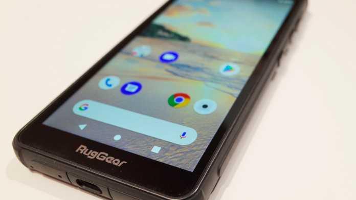 Outdoor-Phone mit Android Pie: RugGear präsentiert RG655