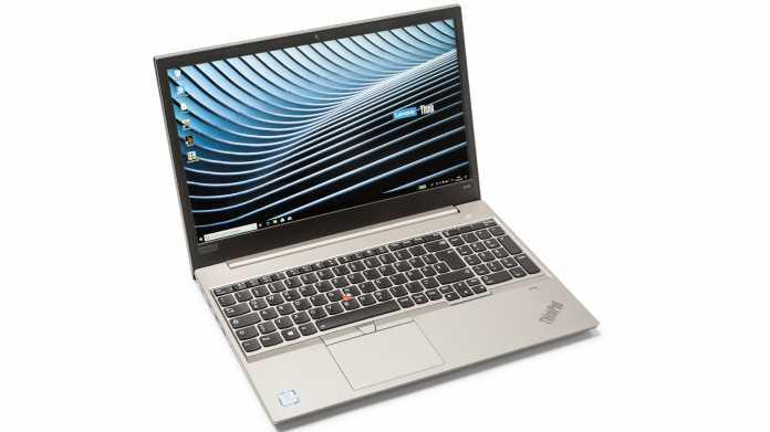 Lenovos Mittelklasse-Notebook ThinkPad E580 mit SSD und USB-C