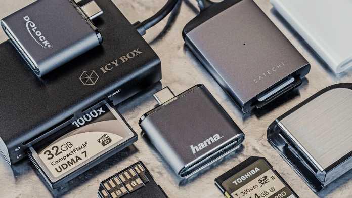 SD-Kartenleser mit USB-C-Stecker und UHS-II-Schnittstelle