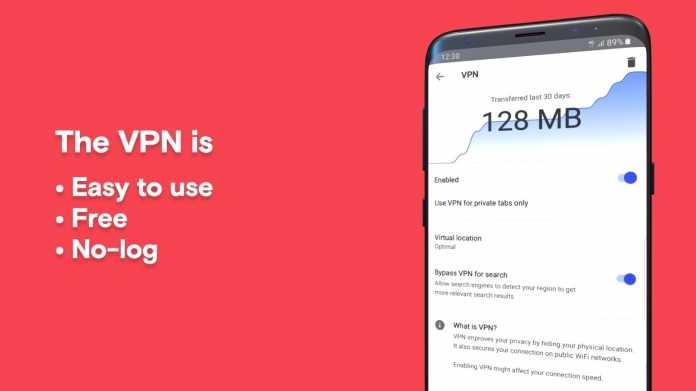 Android-Browser: Opera 51 mit eingebautem VPN-Dienst