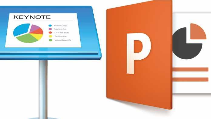 Office-Duell: Apple Keynote gegen Microsoft PowerPoint