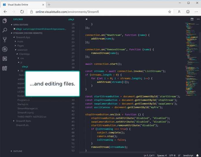 Der browserbasierte Editor in Microsoft Edge