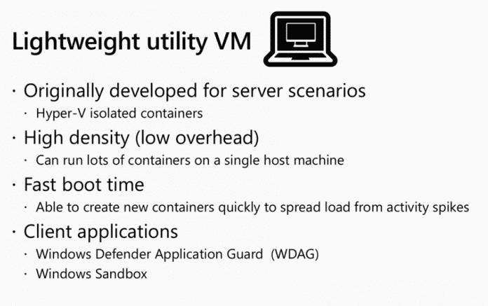 Eigenschaften der VM, die die Basis für WSL ist