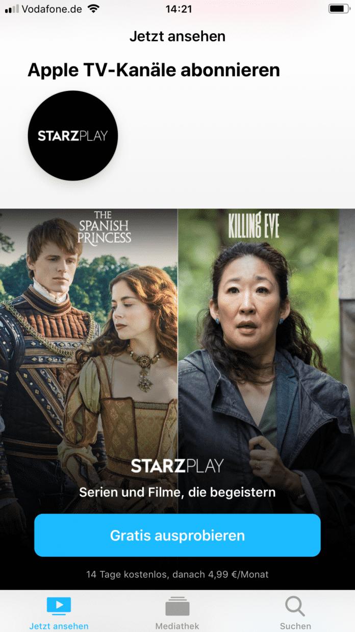 In Apples neuer TV-App lassen sich TV-Kanäle einzeln zubuchen.