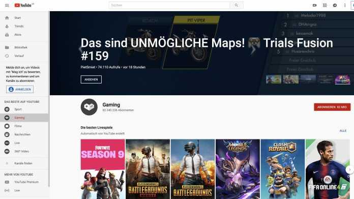 YouTube Gaming App wird eingestellt