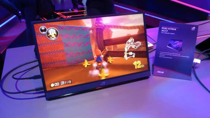 Asus Gaming-Displays: tragbar, curved, besonders kontraststark