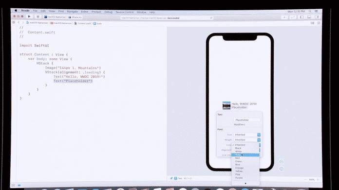 Mit sehr wenig Code lässt sich mit SwiftUI eine komplette App mit Oberfläche erstellen.
