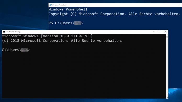 Windows: Eingabeaufforderung und PowerShell schneller starten