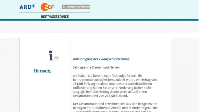 Trojaner-Alarm: Vorsicht vor gefälschten GEZ-Mails