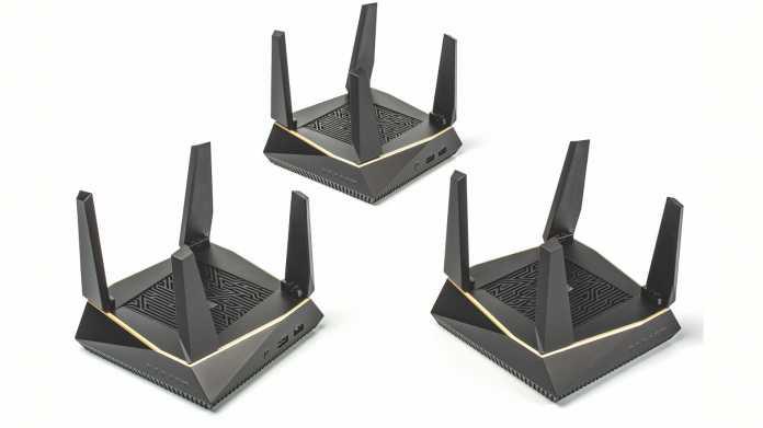 WLAN-System Asus RT-AX92U mit Wi-Fi-6-Backbone