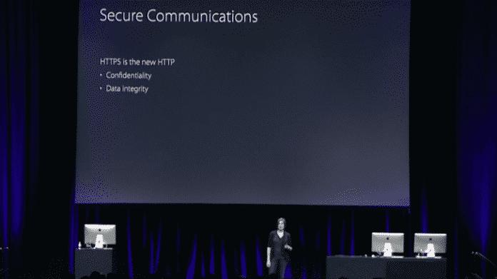 HTTPS sei das neue HTTP, betonte Apple vor Jahren gegenüber Entwicklern –hat den geplanten Zwang für verschlüsselte Verbindungen aber aufgeschoben.