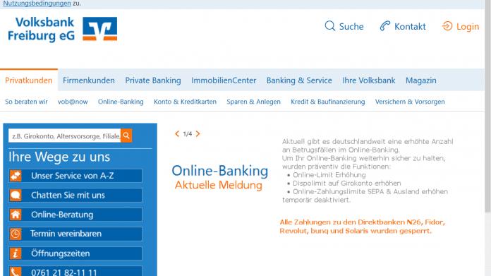 Nach Betrugsfällen: Volksbanken setzen Zahlungen an N26 & Co. aus