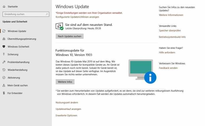 "Windows 10 Version 1803 und älter: ""Zwangs-Upgrade"" auf Version 1903"