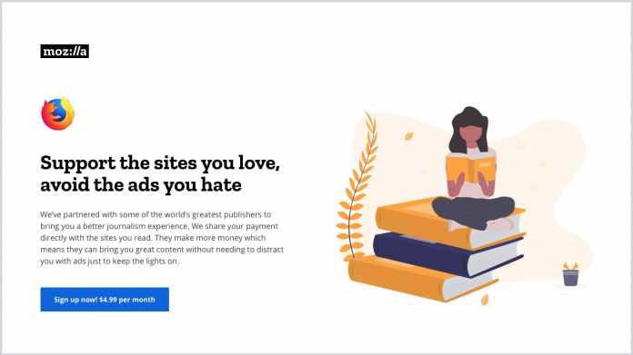 Mozilla-Umfrage: 5 Dollar für werbefreie News?