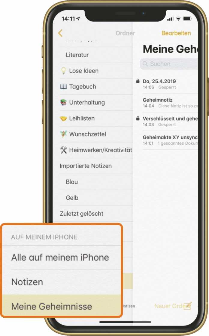 Wer sensible Informationen nicht in der iCloud speichern möchte, kann die App so konfigurieren, dass Notizen nur auf dem Gerät bleiben.