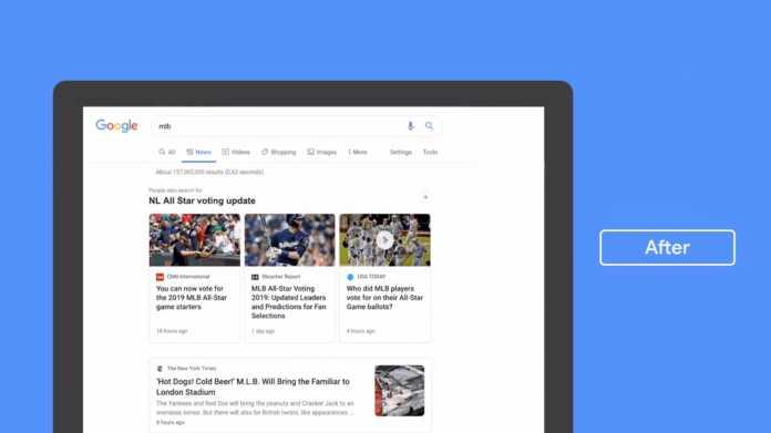 Google: News-Bereich bekommt neues Design