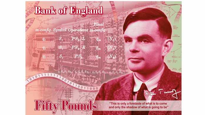 Alan Turings Porträt kommt auf die britische 50-Pfund-Banknote