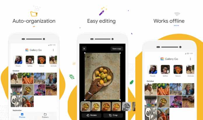 Die Foto-App Gallery Go sortiert Fotos automatisch.