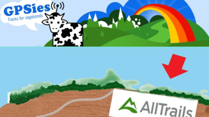 Routenportal: GPSies geht, AllTrails kommt