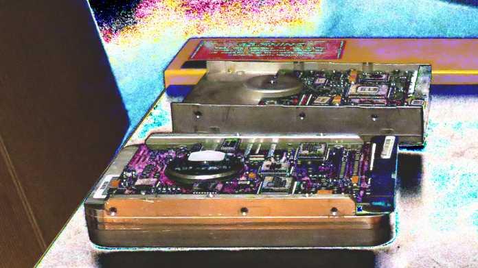 Festplatten (optisch verfremdet)