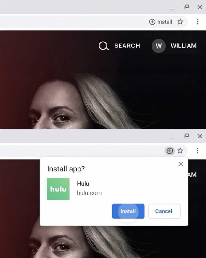 Chrome 76: Über die Adresszeile lassen sich PWAs schnell und bequem installieren.
