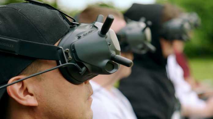 DJI FPV System: Headset für Drohnenrennen aus der Ego-Perspektive