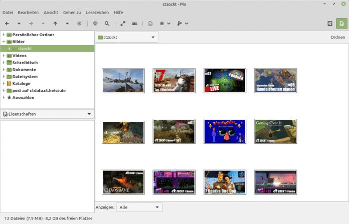 Verbesserungen gab es bei den XApps, darunter auch beim Bildbetrachter und -navigator Pix.