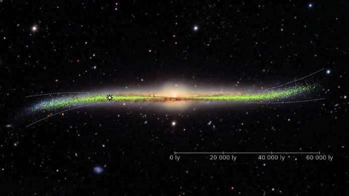 3D-Karte der Milchstraße: Unsere Heimatgalaxie ist an den Rändern gebogen
