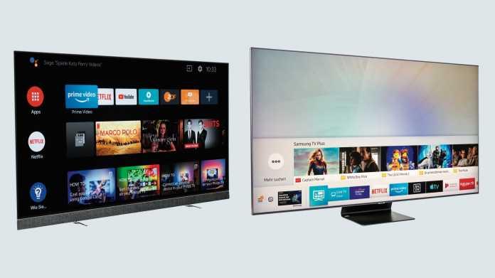 Samsungs LCD-TV 65Q90R und Philips OLED-TV 65OLED903 im Test