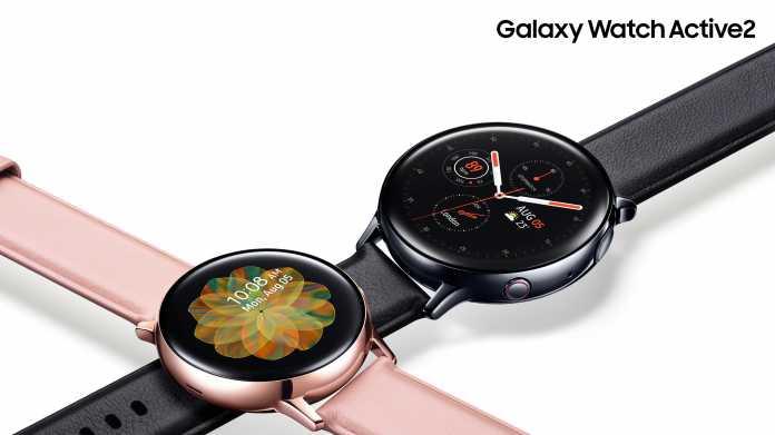 Galaxy Watch Active2: Samsung zeigt Smartwatch mit digitaler Lünette