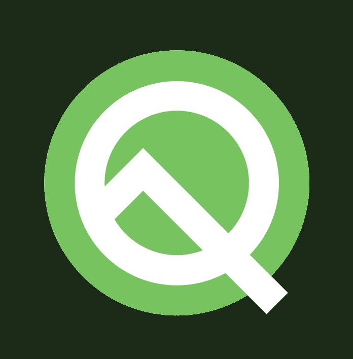Das Logo von Android Q