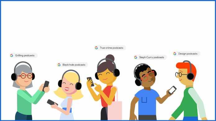 Google zeigt Podcasts in Suchergebnissen an